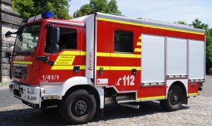 Gesamtansicht Löschgruppenfahrzeug für den Katastrophenschutz