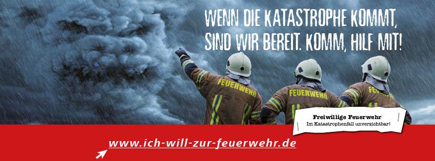 """Banner """"Ich will zur Feuerwehr"""""""